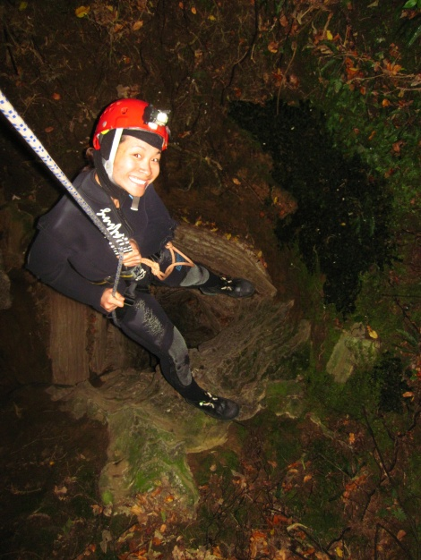 Abseiling 110 Ft into a cave