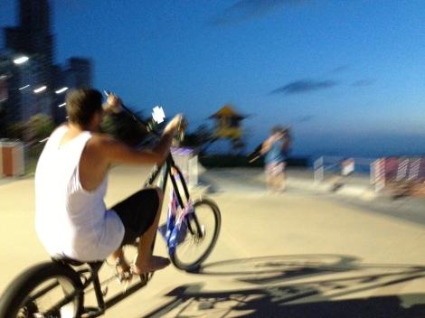 Matt riding his lo rider :)