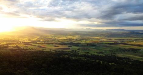 Sun setting Boonah, QLD