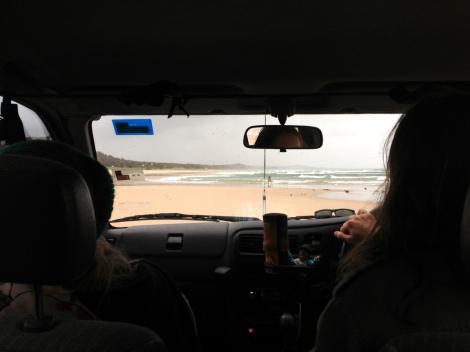 Along the coast