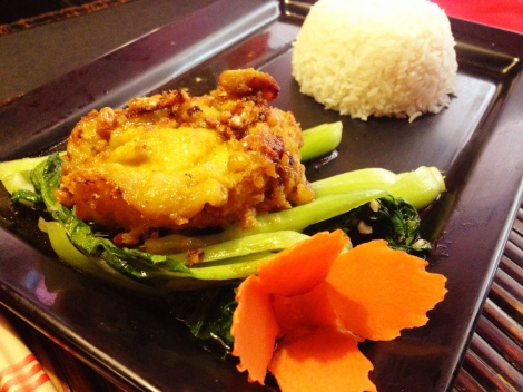 Khmer Chicken with Bok Choy